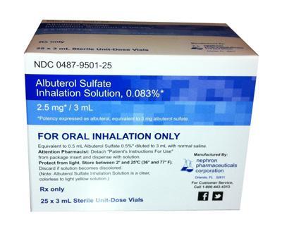 Proventil nebulizer